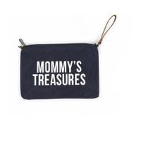 MOMMY CLUTCH NAVY-WHITE