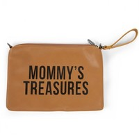 MOMMY CLUTCH IN LEATHERLOOK BRUIN