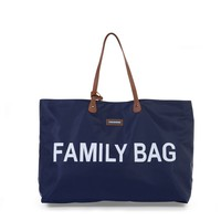 FAMILY BAG BLAUW/WIT